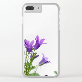 PURPLE FLOWERS - Bellflowers #1 #decor #art #society6 Clear iPhone Case