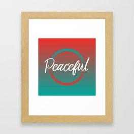 Peaceful - Feelings series Framed Art Print