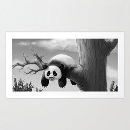 Hang In There, Panda! Art Print