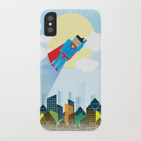 superman iPhone & iPod Cases featuring SUPERMAN by voskovski