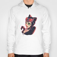 catwoman Hoodies featuring Catwoman by Piano Bandit