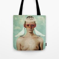 serenity Tote Bags featuring Serenity by Seamless