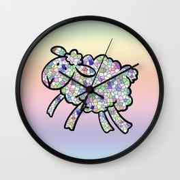 Mosaic Lamb Wall Clock