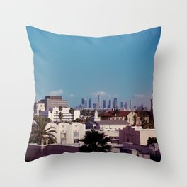 Hollywood to Downtown Los Angeles Throw Pillow