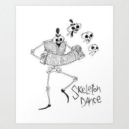 Skeleton Dance Art Print