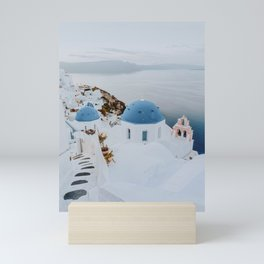 santorini v / greece Mini Art Print