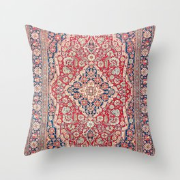 Mohtashem Kashan Central Persian Rug Print Throw Pillow