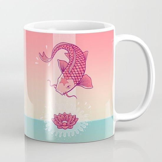 Perseverance // Koi & Lotus Mug