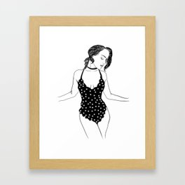 The Stars Inside Her Framed Art Print
