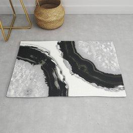 Gray Black Agate #2 #gem #decor #art #society6 Rug