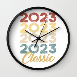 2023 Classic Vintage Style Anniversary Celebration Party Year Birthday Gift Wall Clock