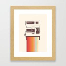Instant Camera Rainbow Gerahmter Kunstdruck