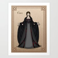 valar morghulis Art Prints featuring Este by wolfanita