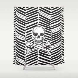 Herring Bone Shower Curtain