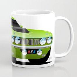 Classic Seventies Style American Muscle Car Cartoon Coffee Mug
