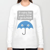 freeminds Long Sleeve T-shirts featuring Umbrellativity by David Olenick