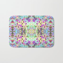 Watercolor Floral Bath Mat