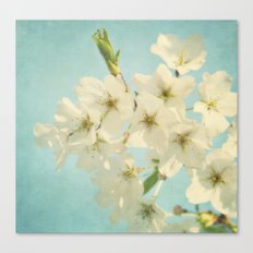 Vintage Spring Blossoms Canvas Print