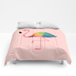 Rainbow Flamingo Comforters