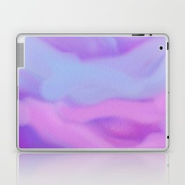 Modern abstract teal magenta violet watercolor pattern Laptop & iPad Skin