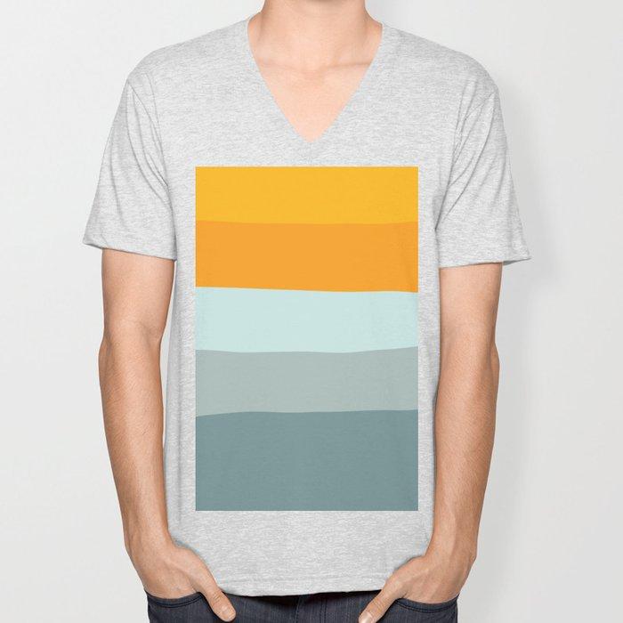 Zen Ocean Stripes Unisex V-Neck