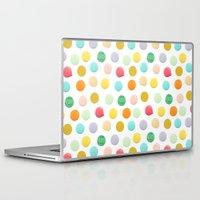 confetti Laptop & iPad Skins featuring Confetti by Catalina Montaña
