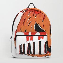 Bloody Pumpkin Happy Halloween scary Backpack
