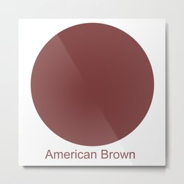 American Brown Metal Print