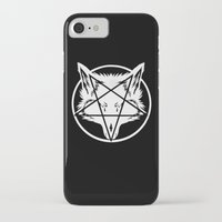 pentagram iPhone & iPod Cases featuring Pentagram Wolf by Mohrne