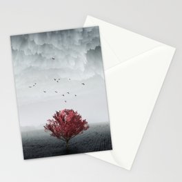 the RED tree ll Stationery Cards