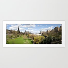 Edinburgh, Scotland panorama Art Print