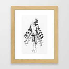 boy draws wings mk-II Framed Art Print