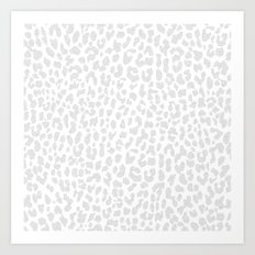 Pale Gray Leopard Art Print