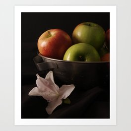 Colander Apples Art Print