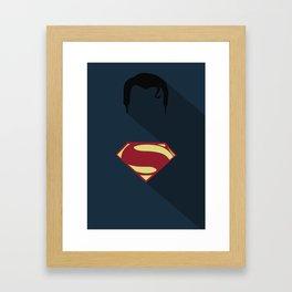 Superman Minimal Framed Art Print