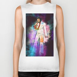 Elvis The King Biker Tank