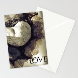 Our Love Is Carved in Stone Stationery Cards