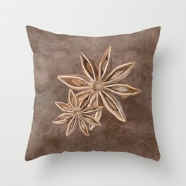 Star Anise Spice Throw Pillow