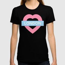 London Pastel Heart T-shirt