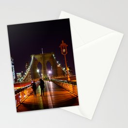 Brooklyn Bridge at Night Stationery Cards