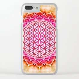 Flower Of Live - Lotos Clear iPhone Case