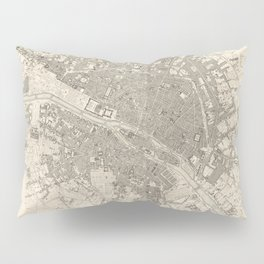 Eastern division of Paris containing the Quartiers (1834) by W B Clarke and James Shury Pillow Sham
