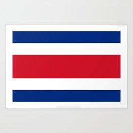 Flag of Costa rica -Costa rican, tico,San José ,Puerto Limón ,Alajuela, heredia. Art Print