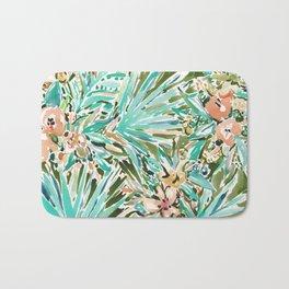FAN OUT Tropical Palmetto Floral Bath Mat