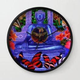 Reaching Nirvana Gautama Buddha Wall Clock