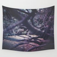 squirrel Wall Tapestries featuring Squirrel by Neon Wildlife