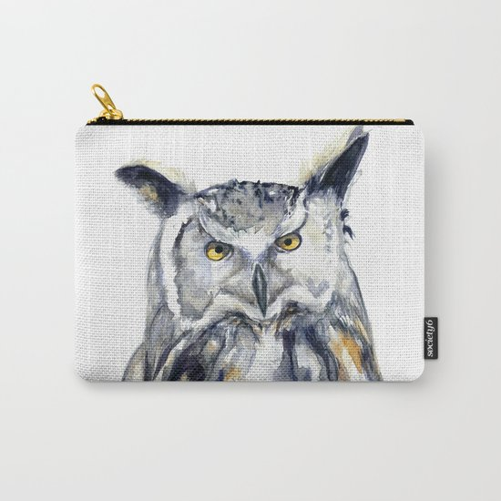 A Serious Owl Carry-All Pouch