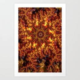 Lava Fractal Art Print