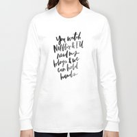 netflix Long Sleeve T-shirts featuring Netflix and Blogs by Casey Kleeb