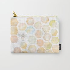 Bee and honeycomb watercolor Carry-All Pouch